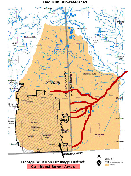Red Run Combined Sewer Areas