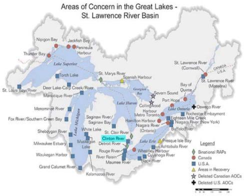 Clinton River Red Run concern Map