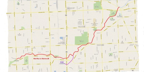 Map Red Run Warren Michigan