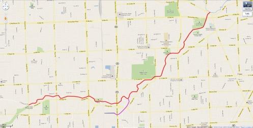 Red Run Warren Michigan Map
