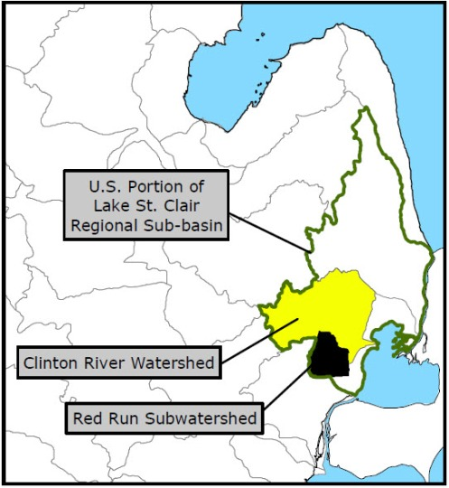 Red Run SubWaterShed Map