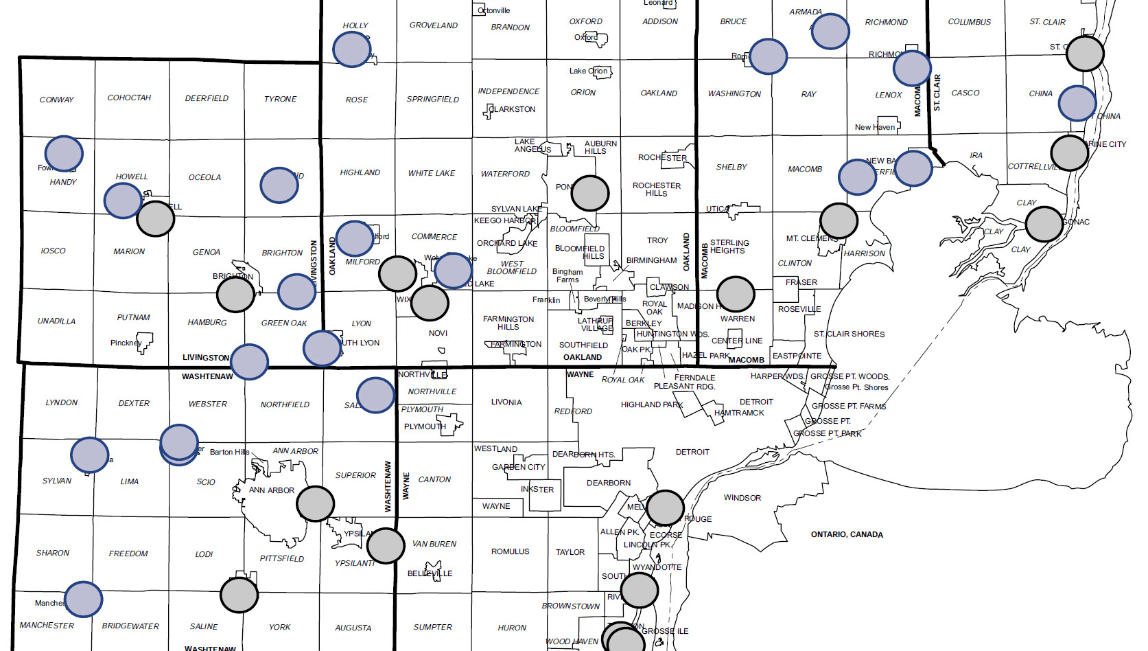 Map Macomb County Trash Pick