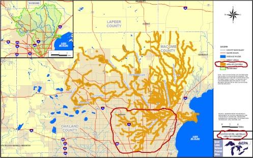 Clinton River EPA concern