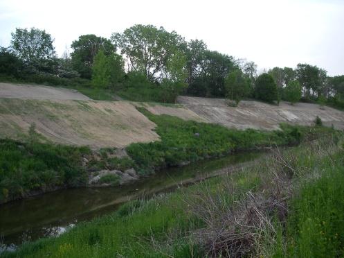 Old landslide in water