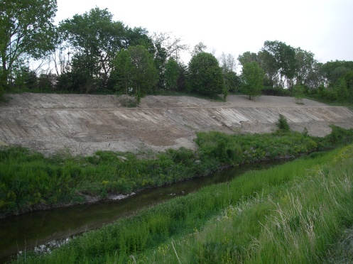 Red Run newly shaped banks