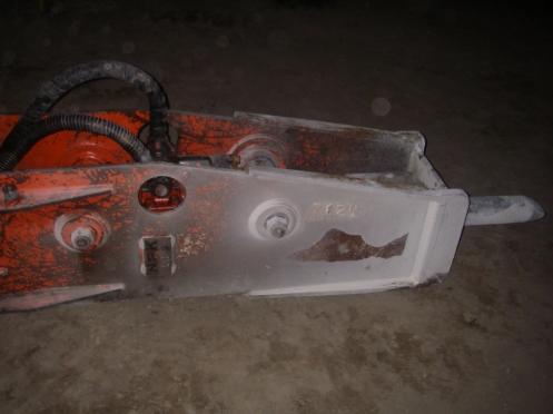 NPK Hydraulic Hammer closeup