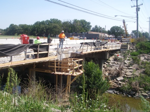 Repairing underside of bridge