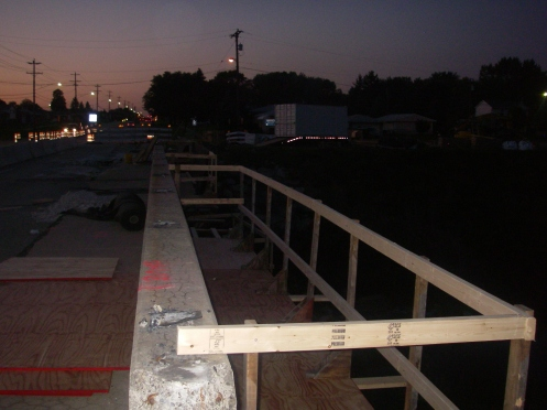 Work Platform Concrete Railing