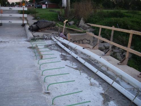 Cables PVC Tubing Sidewalk Underground