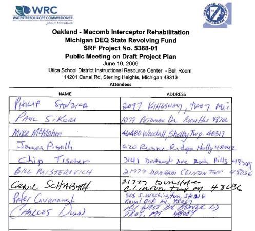 OMID Public Hearing Signatures