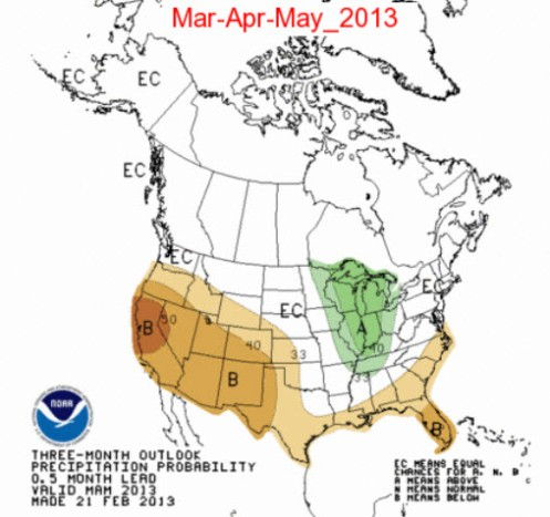 3 Month Precipitation Outlook