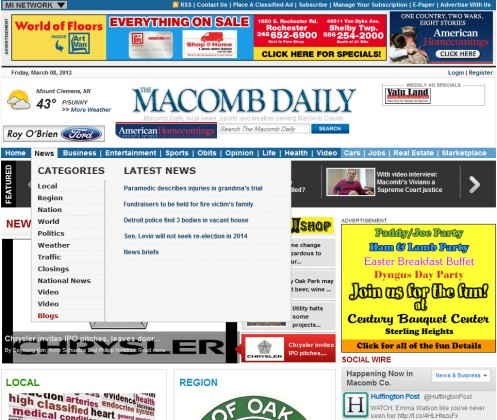 Macomb Daily Blogs