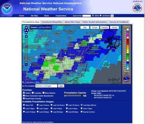 Precipitation April 10 2013