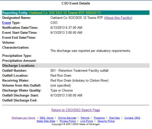 DEQ discharge CSO Clinton River 6_13_2013