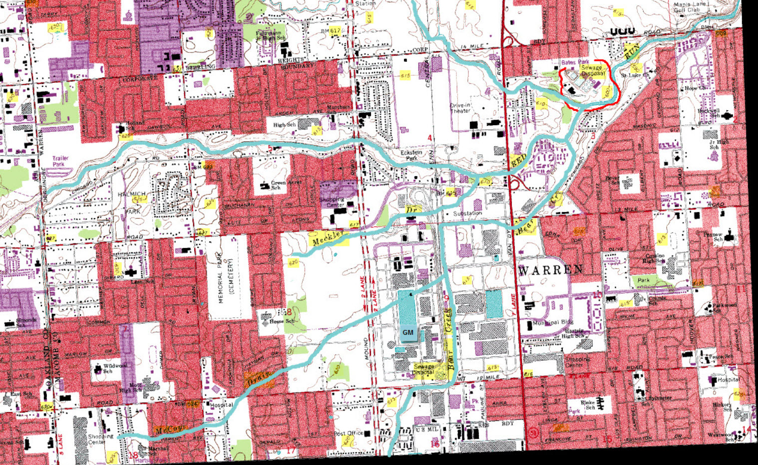 2013 Gm Tech Center Map