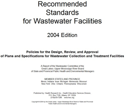 The 10 states waste water standards