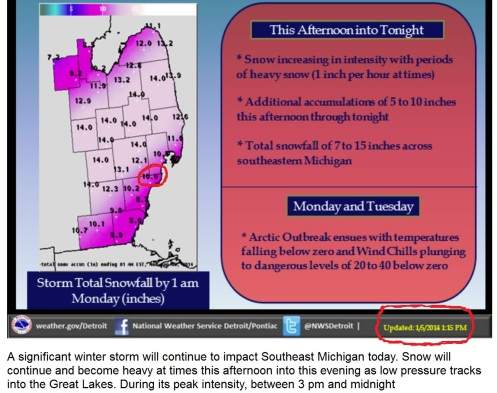 UPDATED Snow Prediction Jan 5_2014