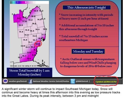UPDATED Snow Prediction Jan 5_2014