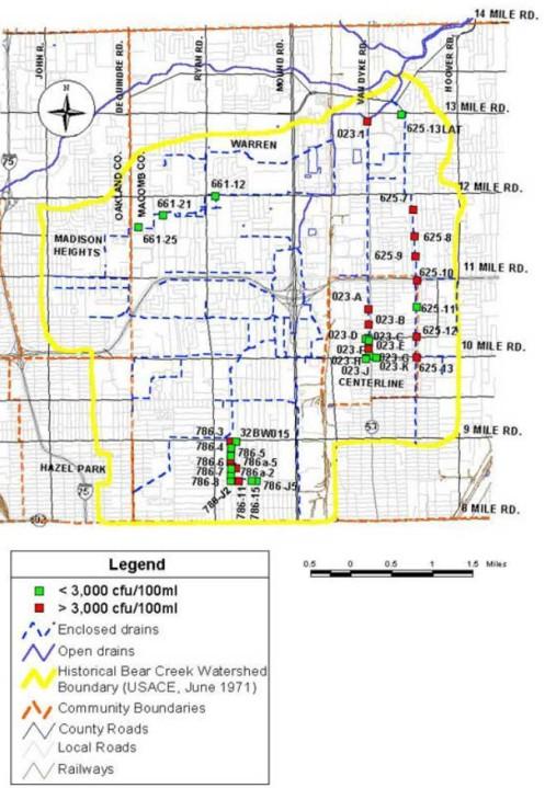 Bear Creek Drain Issues Map