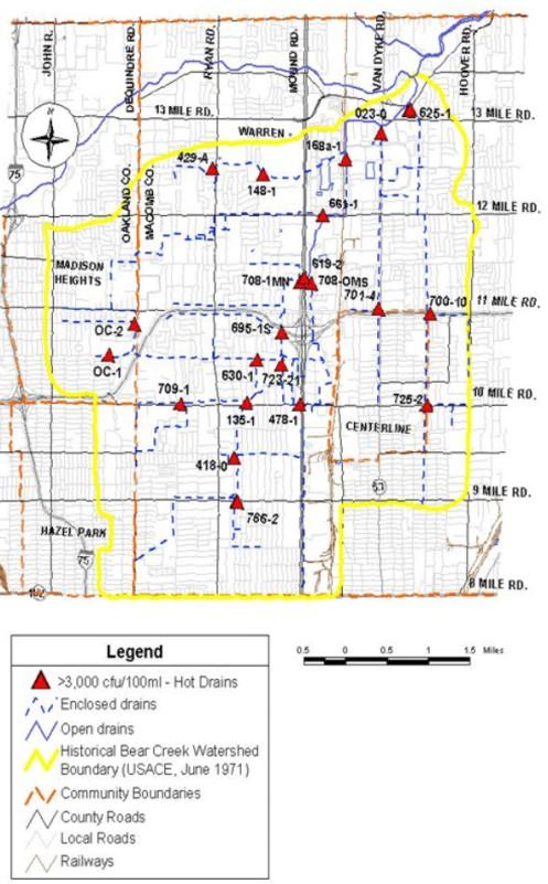 Bear Creek HOT Drains Warren Michigan