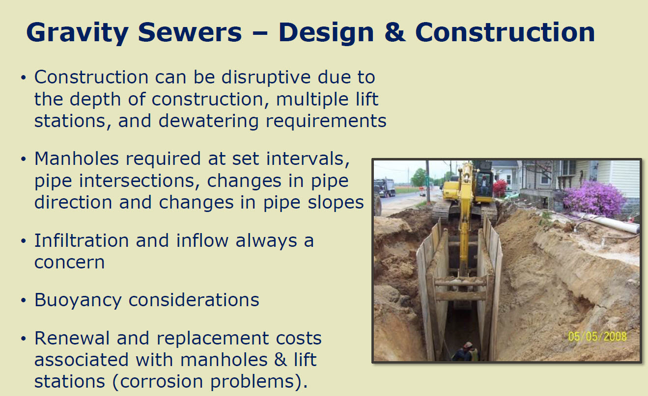 Design construction gravity sewers for Gravity septic system design