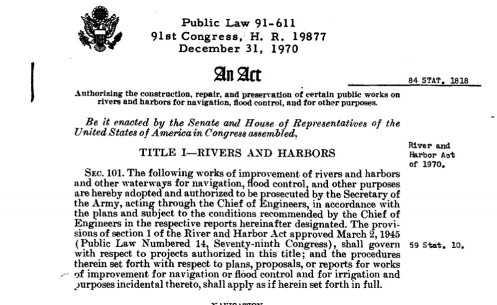 1970 Flood Control Act