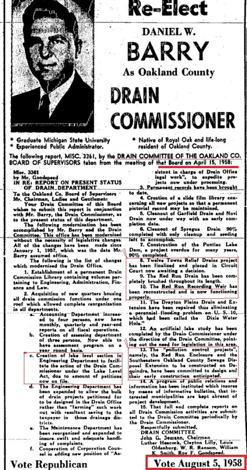 1958 Commissioner and Red Run