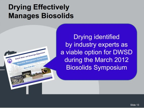 Detroit DWSD drying biosolids