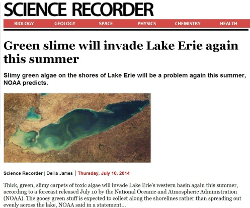 Toxic Algae Lake Erie