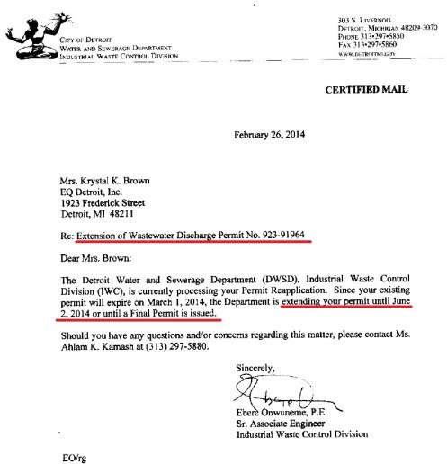 DWSD IWCD Permit 923-91964