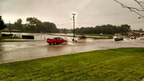Ryan Road underwater Red Run Bridge Warren