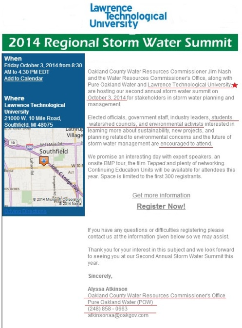 2014 Storm Water Summit