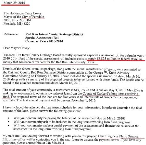 Federal Stimulus Money Red Run Drain
