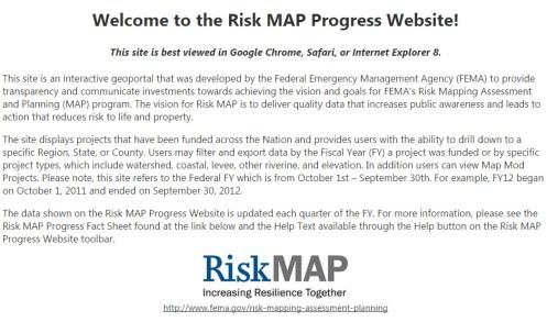 FEMA Risk MAP Progress Website