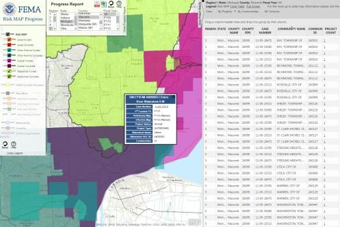 FEMA Risk Map Warren Michigan