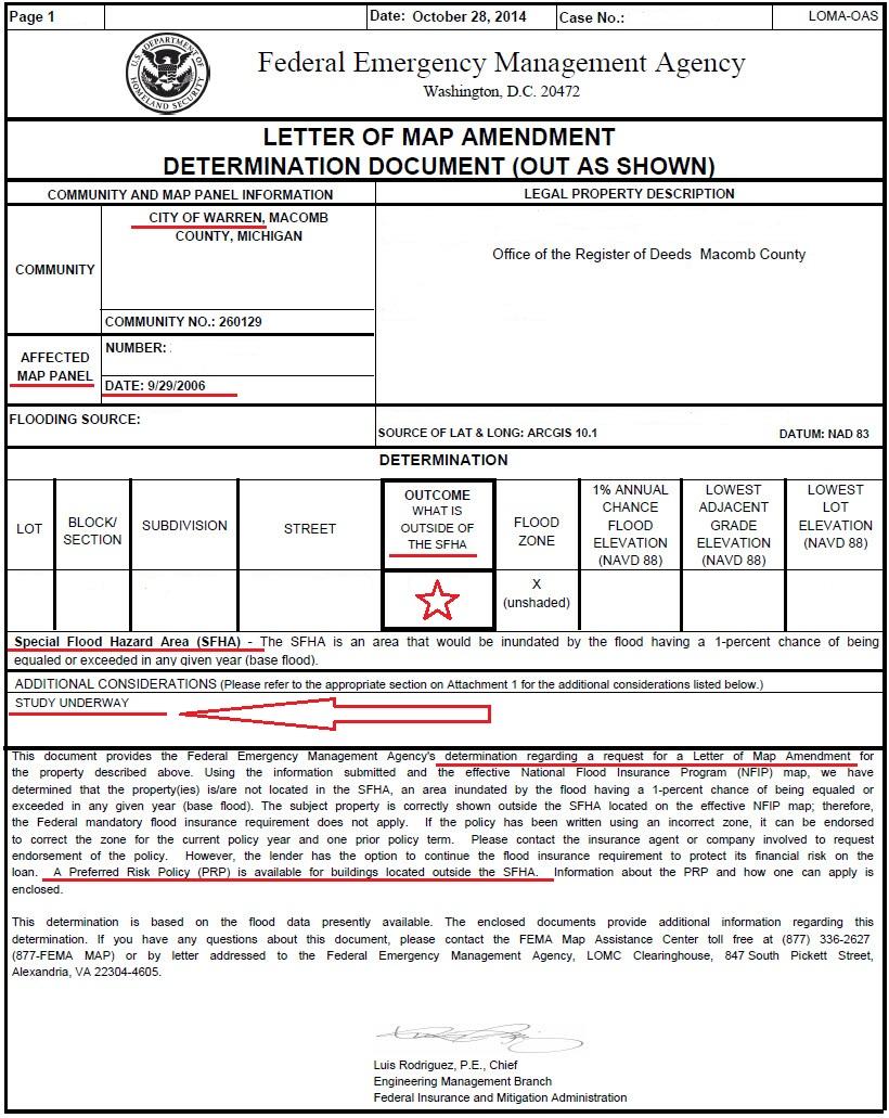FEMA determinations use 2006 data | Red Run