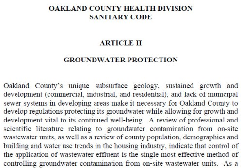OaklandCounty Groundwater